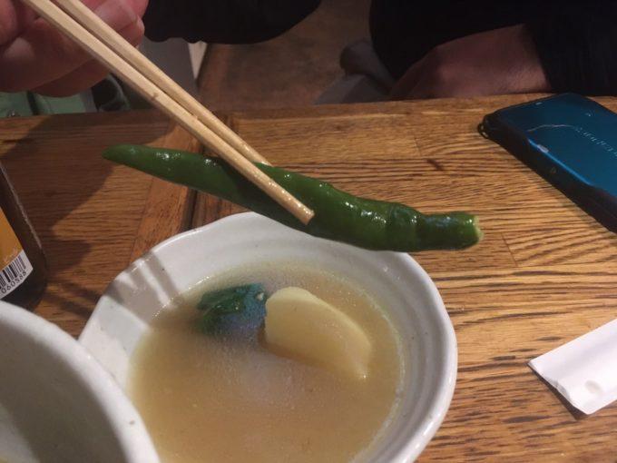 錦糸町のフィリピン料理レストラン IPO!IPO!(イポイポ)青唐辛子①
