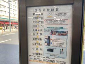 東京・竹ノ塚のフィリピン料理・レストラン ニューハングリー バス路線図