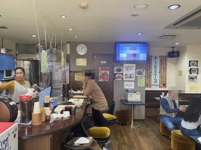 東京・大塚のフィリピン料理レストラン 食べ放題 フィエスタサオオツカ 店内1