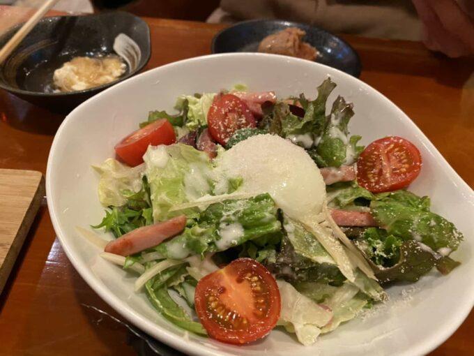 おひとりさまにもおすすめ 東京の居酒屋・バー形式のフィリピン料理・レストラン 浅草橋居酒屋Rin サラダ