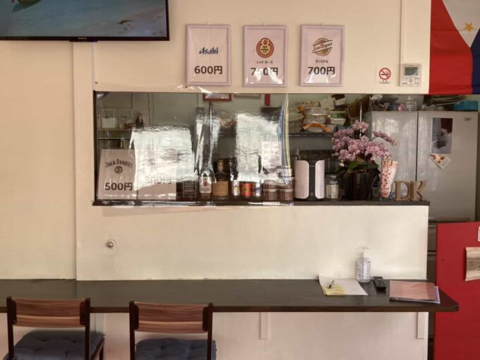 東京・羽村市のフィリピン料理・レストラン ドニーズキッチン 内装6