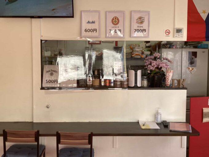 東京の低価格・コスパのいいフィリピン料理・レストラン シーン別 羽村ドニーズキッチン 内装1